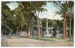 Augusta, Me, Soldiers Monument at the Corner of State Street