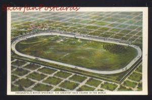 INDIANAPOLIS 500 MOTOR SPEEDWAY AUTO RACING RACE TRACK OLD POSTCARD