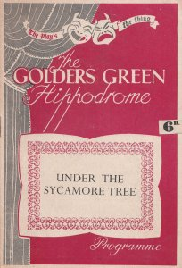 Under The Sycamore Tree Golders Green Drama Theatre Programme