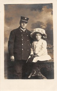 F80/ St Paul Minnesota RPPC Postcard c1910 Fireman Uniform Child