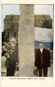 OR - Baker City. Ezra Meeker, Granite Monument