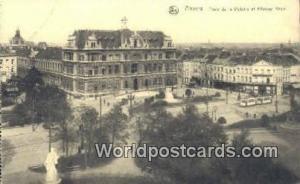 Anvers Germany, Deutschland Postcard Place de la Victorie et Athenee Royal An...