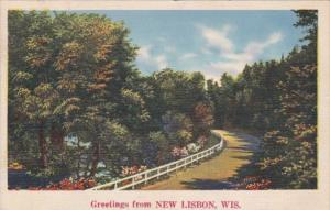 Wisconsin Greetings From New Lisbon 1938
