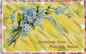 B86/ Palermo Maine Me Postcard c1910 Greetings from Palermo Maine