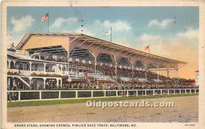 Grand Stand, showing Crowds, Pimlico Race Track Baltimore, Maryland, MD, USA ...