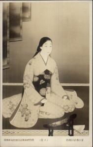 Japan - Japanese Geisha c1910 Real Photo Postcard of Art
