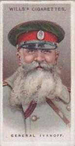 Wills Cigarette Card Allied Army Leaders No 44 General Ivanoff
