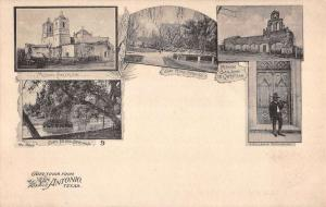 San Antonio Texas City Scene Multiview Antique Postcard K104299