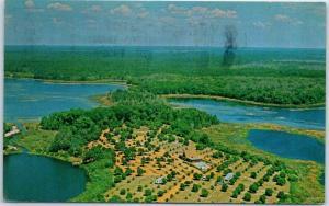 Umatilla, Florida Postcard OCALA FOREST KOA Campground Aerial View 1979 Cancel
