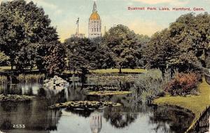 Hartford Connecticut~Bushnell Park Lake~Lily Pads~1914 Postcard