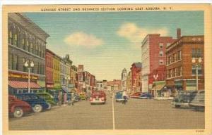 Genesse Street, Looking East, AUBURN, New York, 30-40s