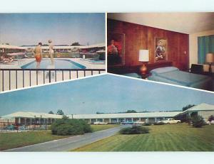 Unused Pre-1980 OLD CARS & THE BROWN MOTEL Liberty Kentucky KY s3314-13