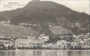 Montreux Swizerland, Schweiz, Svizzera, Suisse Hotels Belmont, Palace et Cygn...