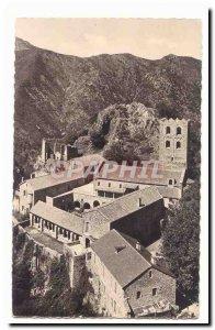 around Vernet les Bains Postcard Abbey of Saint Martin of Canigou