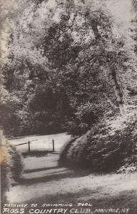 New York Monroe Pathway To Swimming Pool Ross Country Club Real Photo