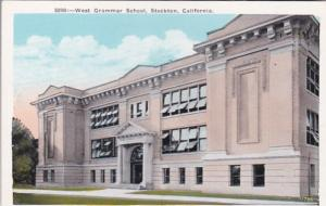 California Stockton West Grammar School