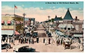 Maine Old Orchard Beach  Main street