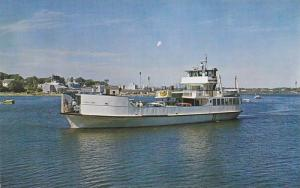 The Ferry Everett Libby arriving in Rockland Harbor from Vinalhaven, Maine,...