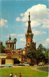 Guatemala City Guatemala Yurrita's Church Postcard used 1969
