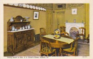 Illinois Galena Dining Room In Home Of General U S Grant Curteich