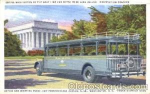 Dertroit-windsor Tunnel Bus, Washington D.C., Wa, USA Buses Postcard Post Car...