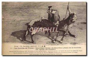 Postcard Old Corrida Bullfight Bullfighting of bulls Second tercio or second ...