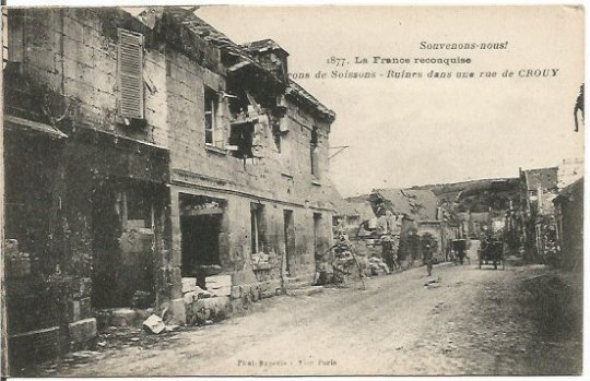 French Ruins from World War I in Crouy less we forget Vintage Postcard