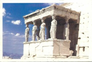 Greece Postcard Athens The Caryatids statues architecture