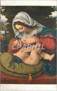 Postcard Old 1152 andrea solario virgin green cushion
