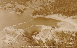 Alder Dam Mt Rainier Highway Washington Real Photo