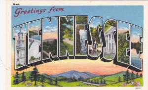 TENNESSEE, 1930-1940's; Large Letter Greetings