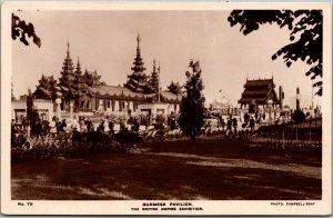 1924 BRITISH EMPIRE EXHIBITION Photo RPPC Postcard Burmese Pavilion Wembley Pa