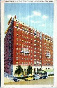 1944 HOLLYWOOD Knickerbocker Hotel California Postcard DA