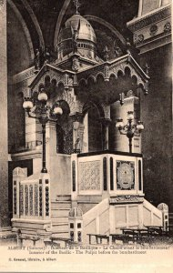 France Albert The Basilica Interior The Pulpit Before The Bombardment