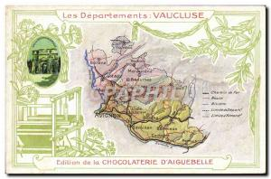 Old Postcard geographical maps of Chocolaterie & # 39Aiguebelle Vaucluse Oran...