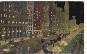 Illinois Chicago Michigan Avenue Looking North From Art Institute 1915