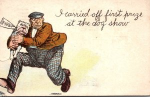 Humour Man Stealing Dog I Carried Off First Prize At The Dog Show 1909