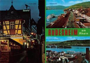 Ruedesheim am Rhein Drosselgasse Rheinstrasse Road Train Cars River Boats
