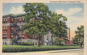 Iowa Davenport High School 1950 Curteich