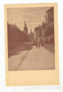 Reval,  Estonia, (now called Tallinn), Street view towardchurch, view Nr. 9  ...