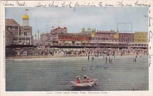 New Jersey Atlantic City View From Steel Pier 1906