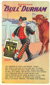 Bull Durham Tobacco Advertising Set Spain B-7 Postcard