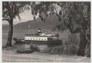 Shipping; Norwegian Car Ferry Folgefonn At Hardangerfjord PPC, Unused, c 50's