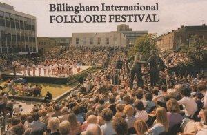 Billingham 1989 Folk Music Festival Advertising Postcard