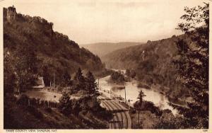 Three County View Symonds Yat Train Rail River Panorama Postcard