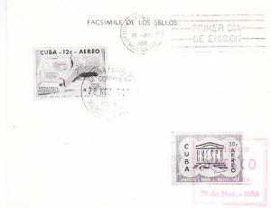 Cuba - C-193- C-194 Post Office FD  Folder