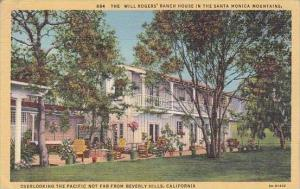 California Beverly Hills The Will Rogers Ranch House In the Santa Monica Moun...