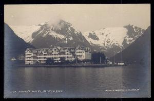 Hotel Kviknes Sognefjorden Norway RPPC unused c1920's