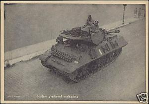 WWII - Netherlands, Allied Liberators with Tank (1945)