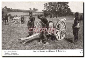 Old Postcard Militaria Our valiant gunners has the Canon & # 39oeuvre